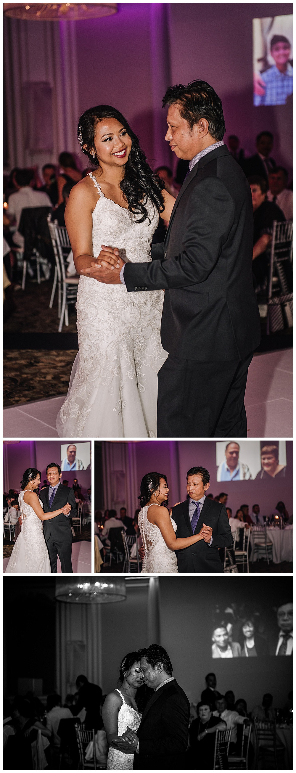 Father Daughter Dance, Bride with Dad