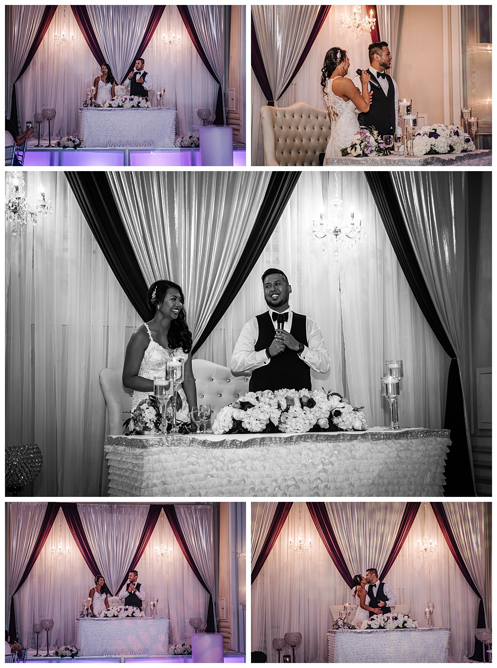 Bride and Groom Speech, Laughing, Thankful, Bride and Groom Kiss