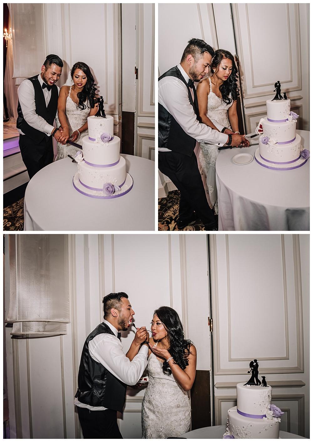 Cake Cutting, Bride and Groom, Cake