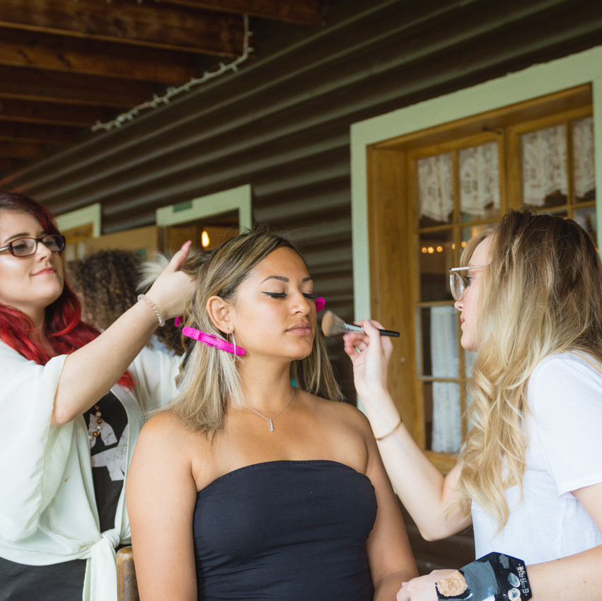 Styled Shoot at Pine Lodge - Artistry by Jacquie, Emma Ward Hairstyling & Model Aley