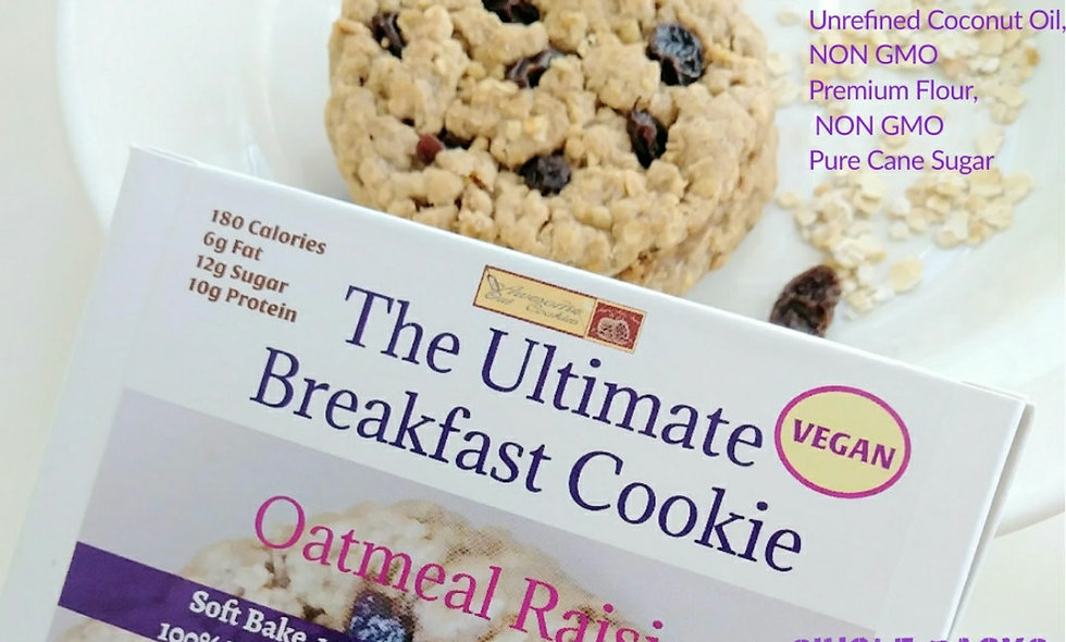 Awesome Oat Cookies VEGAN COOKIE | Breakfast Cookie Oatmeal Raisin  6 Count