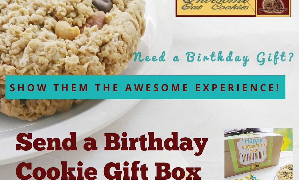 Happy Birthday Gourmet Cookie Gift Box | Awesome Oat Cookies Large 12 Count