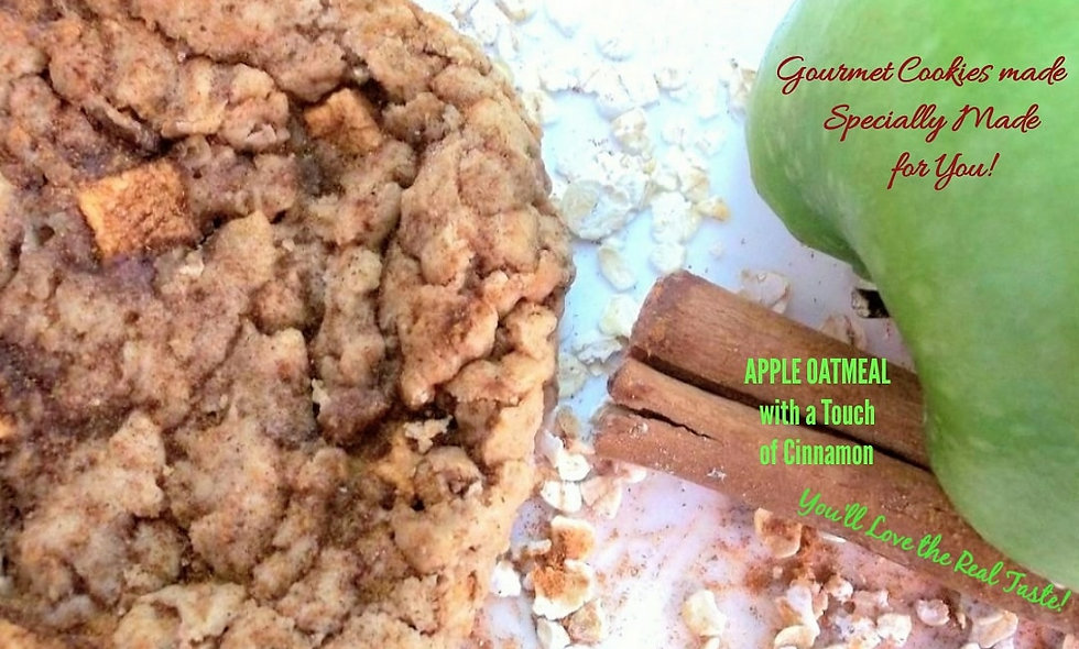 Apple Oatmeal with a Touch of Cinnamon Gourmet Gift | 12 Awesome Oat Cookies
