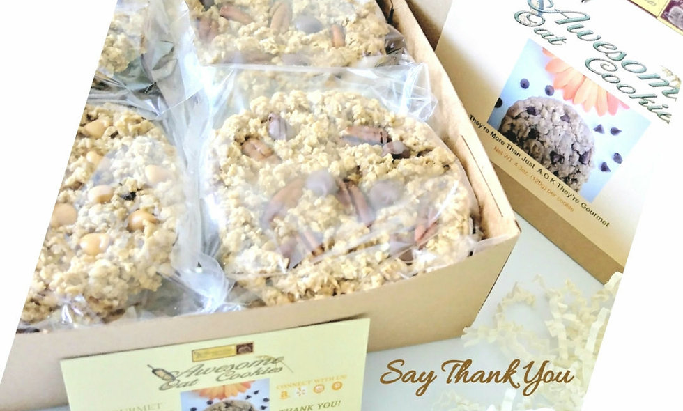 Complimentary Gift Assorted Cookie Box, Awesome Oat Cookies 12 Large Size