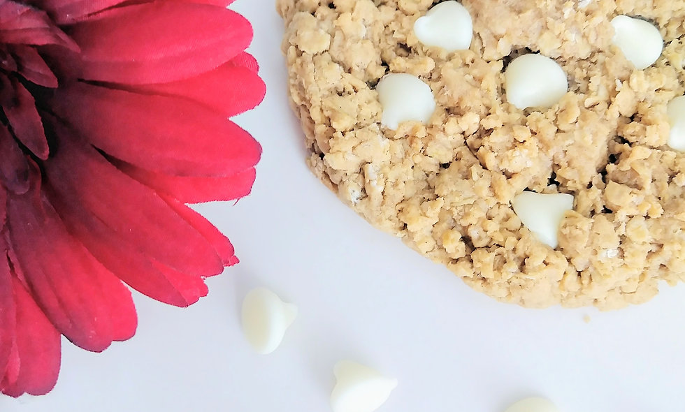 White Chocolate Chip Oatmeal Gourmet Cookies, Awesome Oats Fresh Baked  12 Count