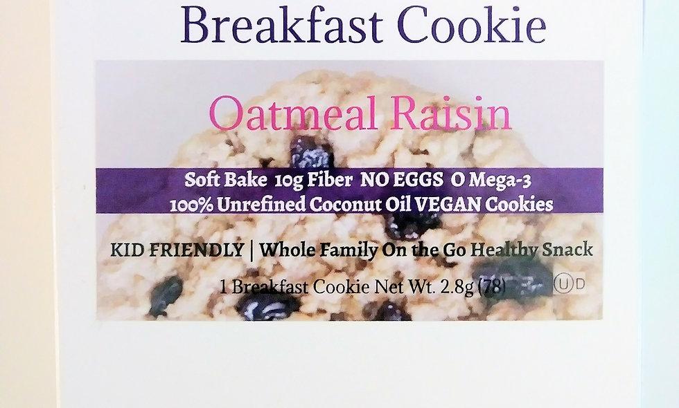 Awesome Oat Cookies VEGAN COOKIE | Breakfast Cookie Oatmeal Raisin  6 Count