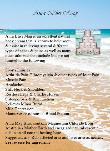 Aura Bliss Mag Cream (For Pain)