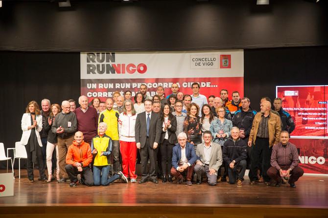 O Concello recoñeceu aos mellores das carreiras populares e presentou o Run Run Vigo, a súa nova sin