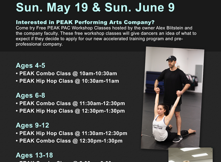 FREE PEAK WORKSHOPS THIS WEEKEND!