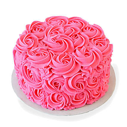 "6"" Hot Pink Buttercream Rosettes"