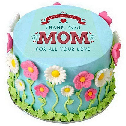 "6"" Flower Garden  Cake for Mom"
