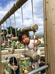 ハレルヤ子ども園遊具コーナー