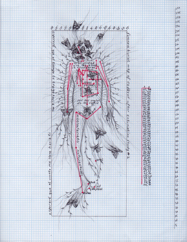 Forensic burial map of cadaver after exhumation, study #2
