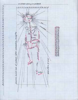 Forensic burial map of cadaver after exhumation, study #3