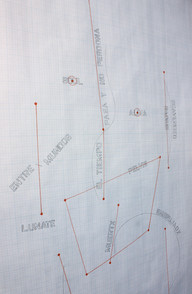 Forensic burial map of cadaver after exhumation (detail)