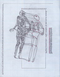 Forensic burial map of cadaver after exhumation, study #1