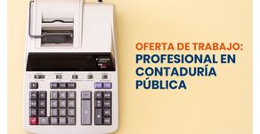 Oferta de trabajo: Profesional en Contaduría Púbica