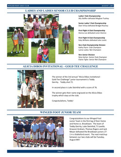 Winged Foot Golf Club Events - August 2017