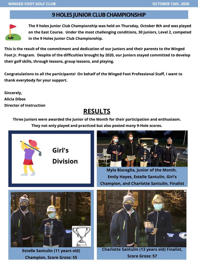 9-Hole Junior Club Championship