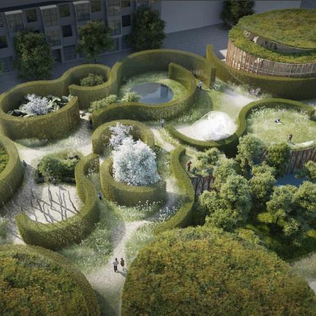 Зеленая крыша в проекте нового музея Ганса Христиана Андерсана