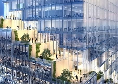 В Нью-Йорке представили проект башни, завернутой в ленту зеленых террас