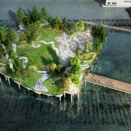 В Нью-Йорке появится парк-остров на воде