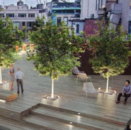 """На крыше нового офисного здания появится """"зеленая палуба"""""""