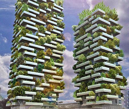 Миланские башни проекта «Bosco Verticale» станут живыми фильтрами воздуха в городе