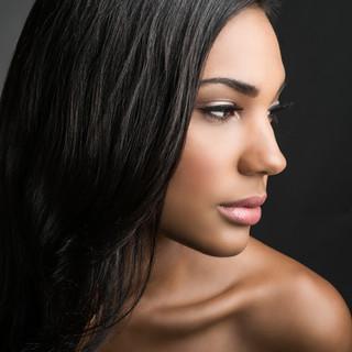Oscura belleza de pelo