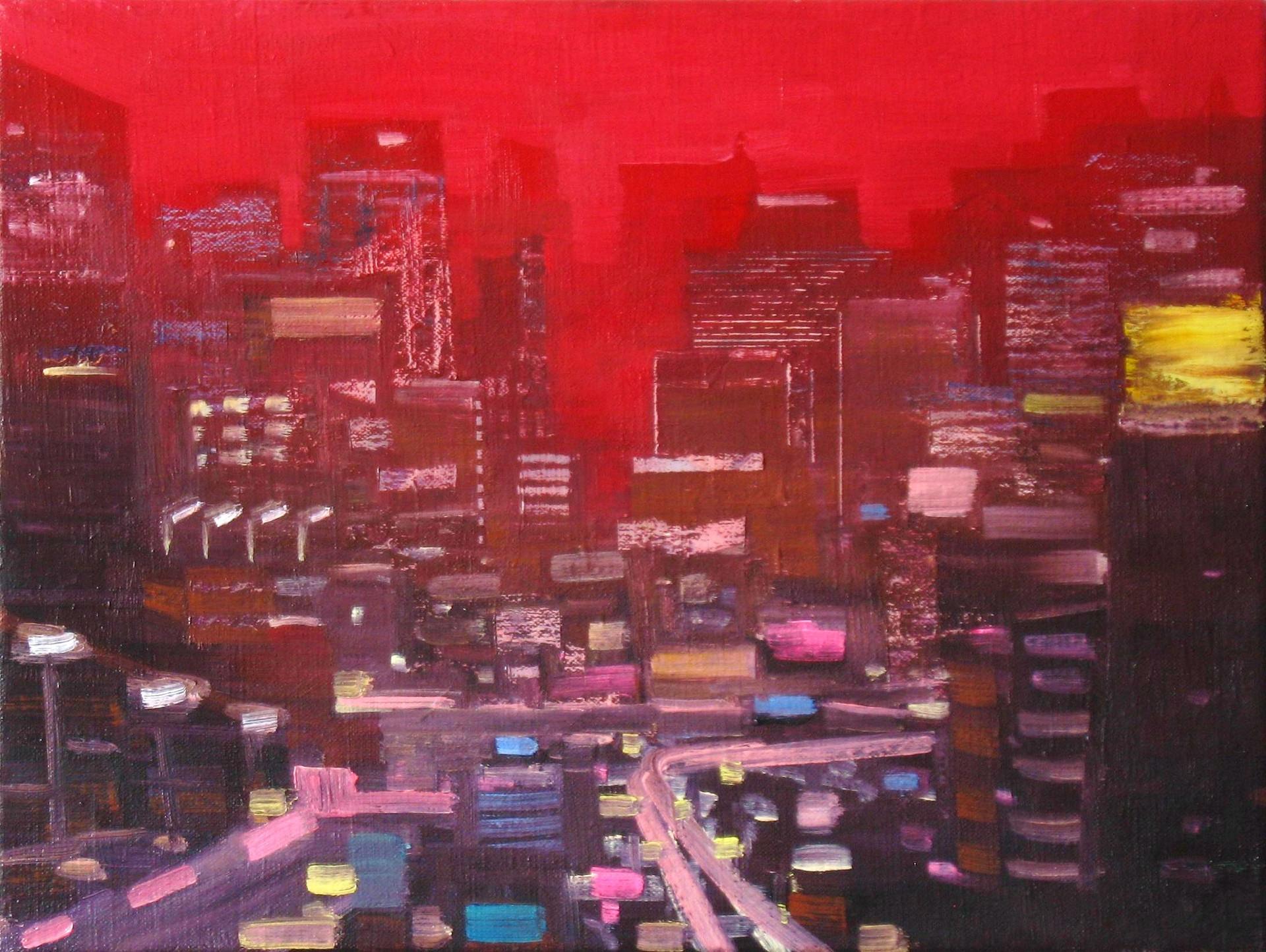 "JOSEPH SIDDIQI ""City Planning"" oil on linen 12 x 16 in. / 30 x 41 cm"