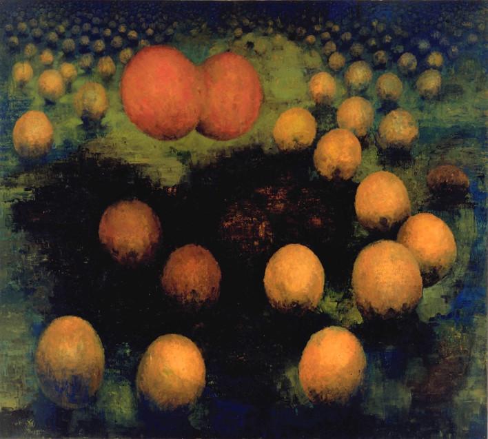 "JOSEPH SIDDIQI ""Life Cycle X"" oil on canvas 108 x 120 in. / 274 x 305 cm"