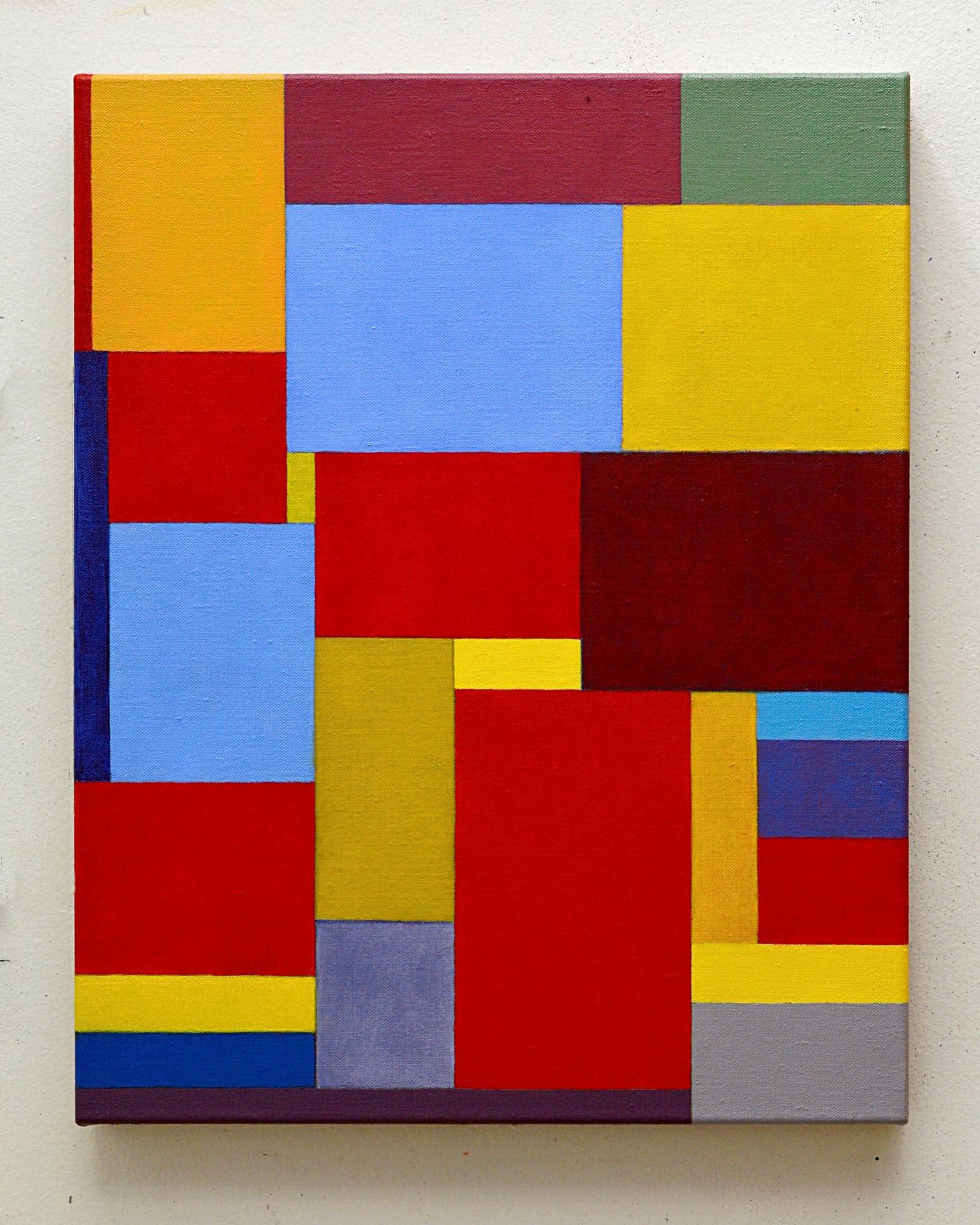 "JOSEPH SIDDIQI ""Scarlet, Cobalt Blue""  oil on linen 20 x 16 in. / 51 x 41 cm"
