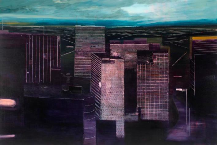 "JOSEPH SIDDIQI ""Unfamiliar Weather"" oil on linen 52 x 78 in. / 132 x 198 cm"