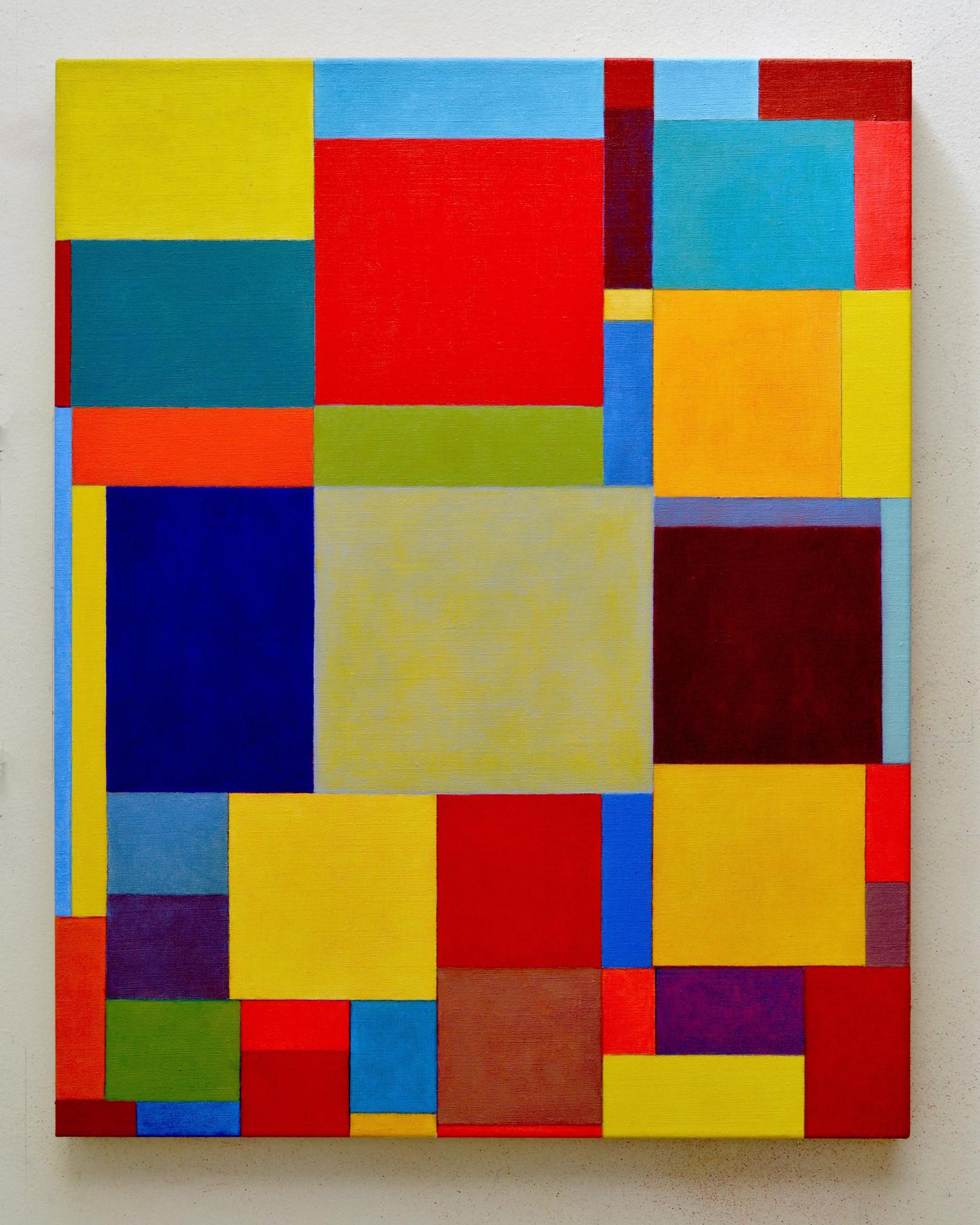 "JOSEPH SIDDIQI ""Blue-Green, Red Ochre""  oil on linen 30 x 24 in. / 76 x 61 cm"