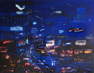 "JOSEPH SIDDIQI ""Metropolis Rising"" 2007 oil on canvas 24 x 33 in. / 61 x 84 cm"