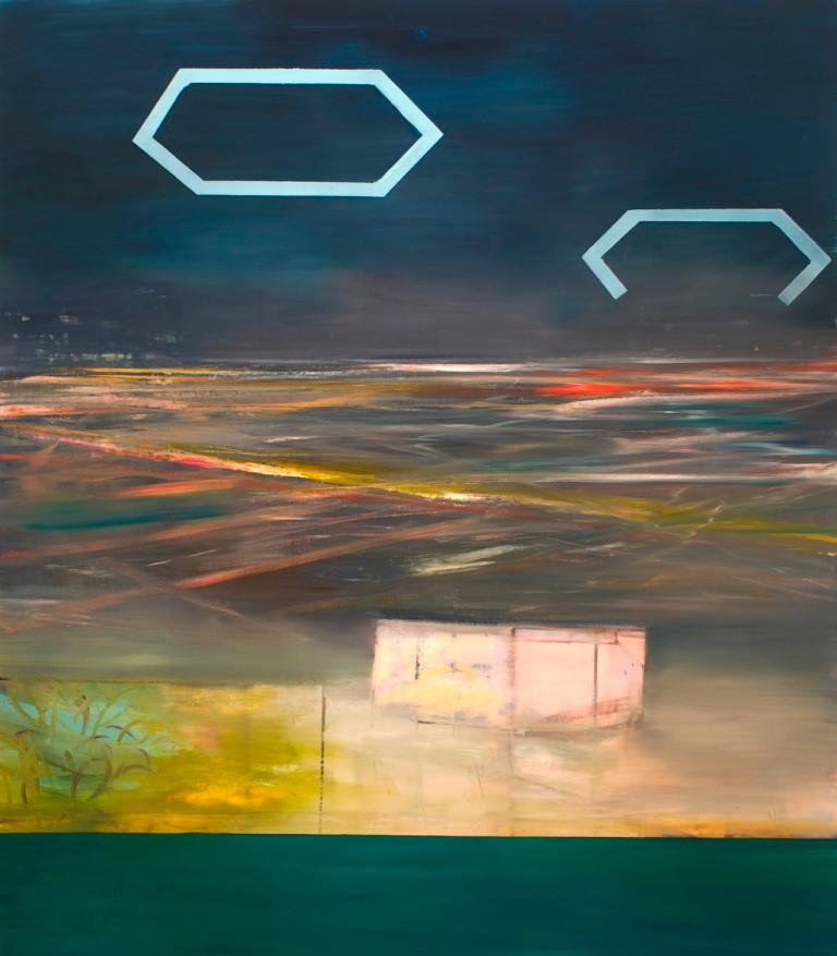 """JOSEPH SIDDIQI """"Possible Future"""" oil on linen 96 x 84 in. / 244 x 213 cm"""