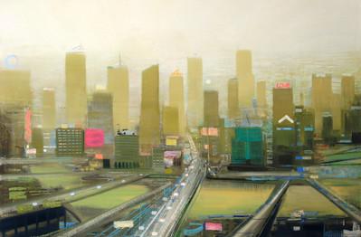"JOSEPH SIDDIQI ""The Divide"" 2012 oil on linen 33 x 50 in. / 84 x 127 cm"