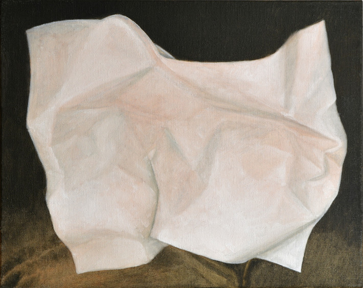 "JOSEPH SIDDIQI ""Paper""  oil on linen 16 x 20 in. / 41 x 51 cm"