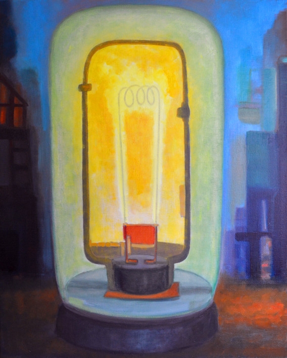 "JOSEPH SIDDIQI ""Lantern""  oil on linen 50 x 40 in. / 127 x 102 cm"