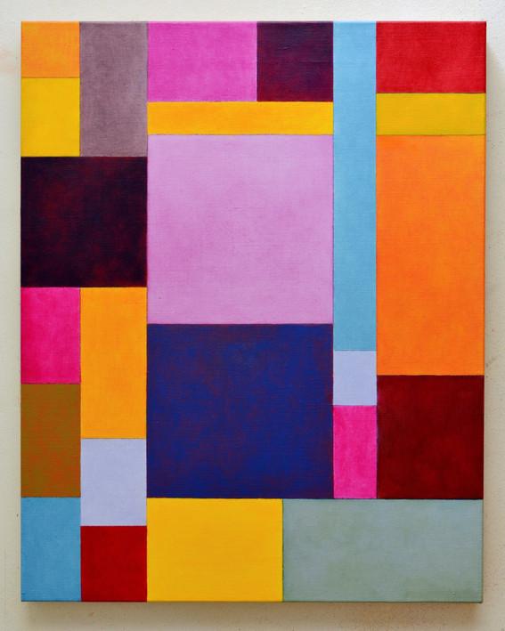 "JOSEPH SIDDIQI ""Magenta, Yellow Deep""  oil on linen 30 x 24 in. / 76 x 61 cm"