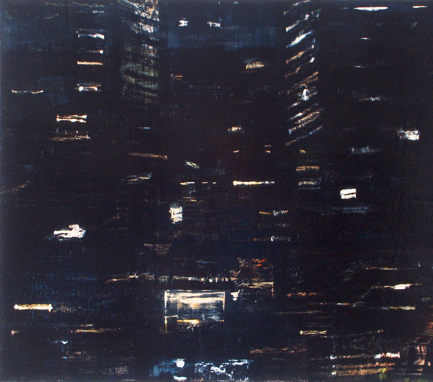 "JOSEPH SIDDIQI ""Night View 4"" oil on canvas 22 x 25 in. / 56 x 64 cm"