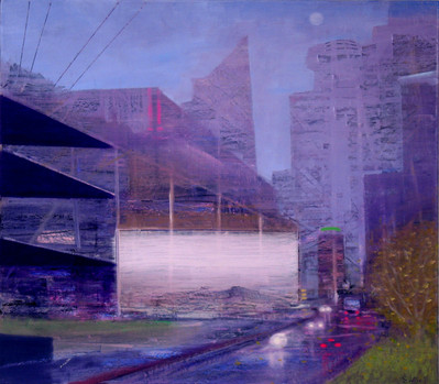 "JOSEPH SIDDIQI ""Twilight"" 2011 oil on linen 22 x 25 in. / 56 x 64 cm"