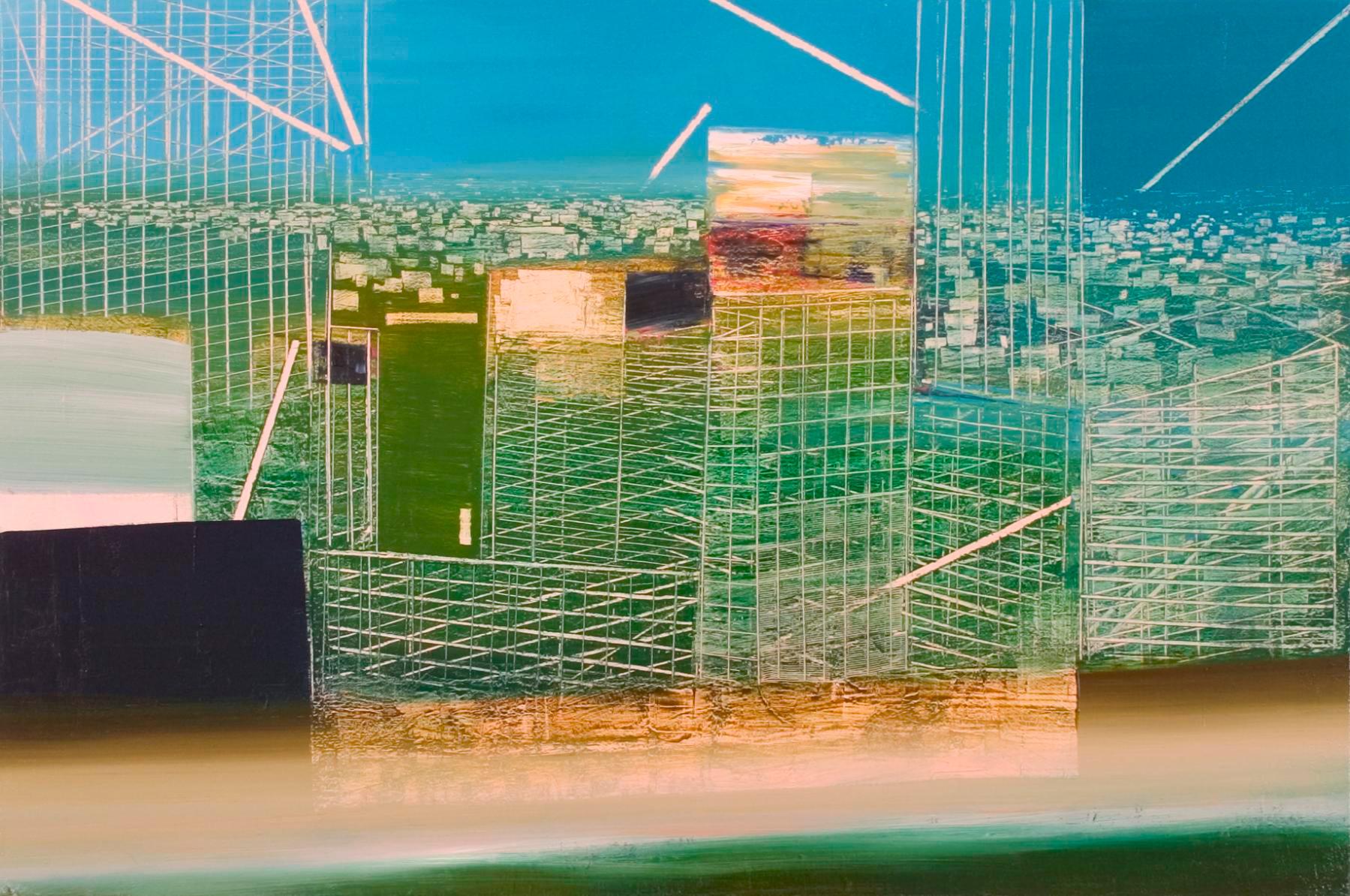 "JOSEPH SIDDIQI ""Utopia Study"" oil on linen 33 x 50 in. / 84 x 127 cm"