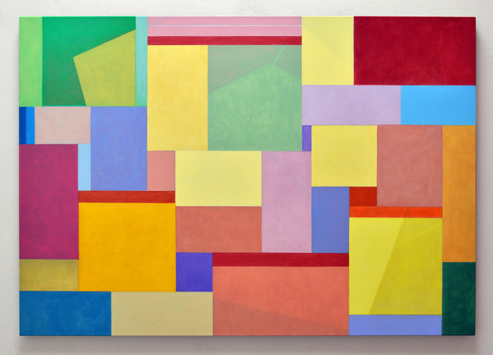 "JOSEPH SIDDIQI ""Disentangle""  oil on linen 42 x 60 in. / 107 x 152 cm"