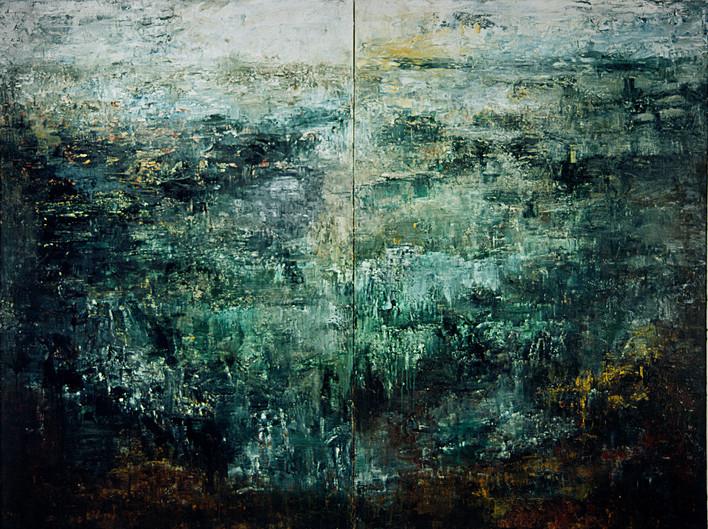 "JOSEPH SIDDIQI ""Earth Series I"" oil on canvas 78 x 104 in. / 198 x 264 cm"