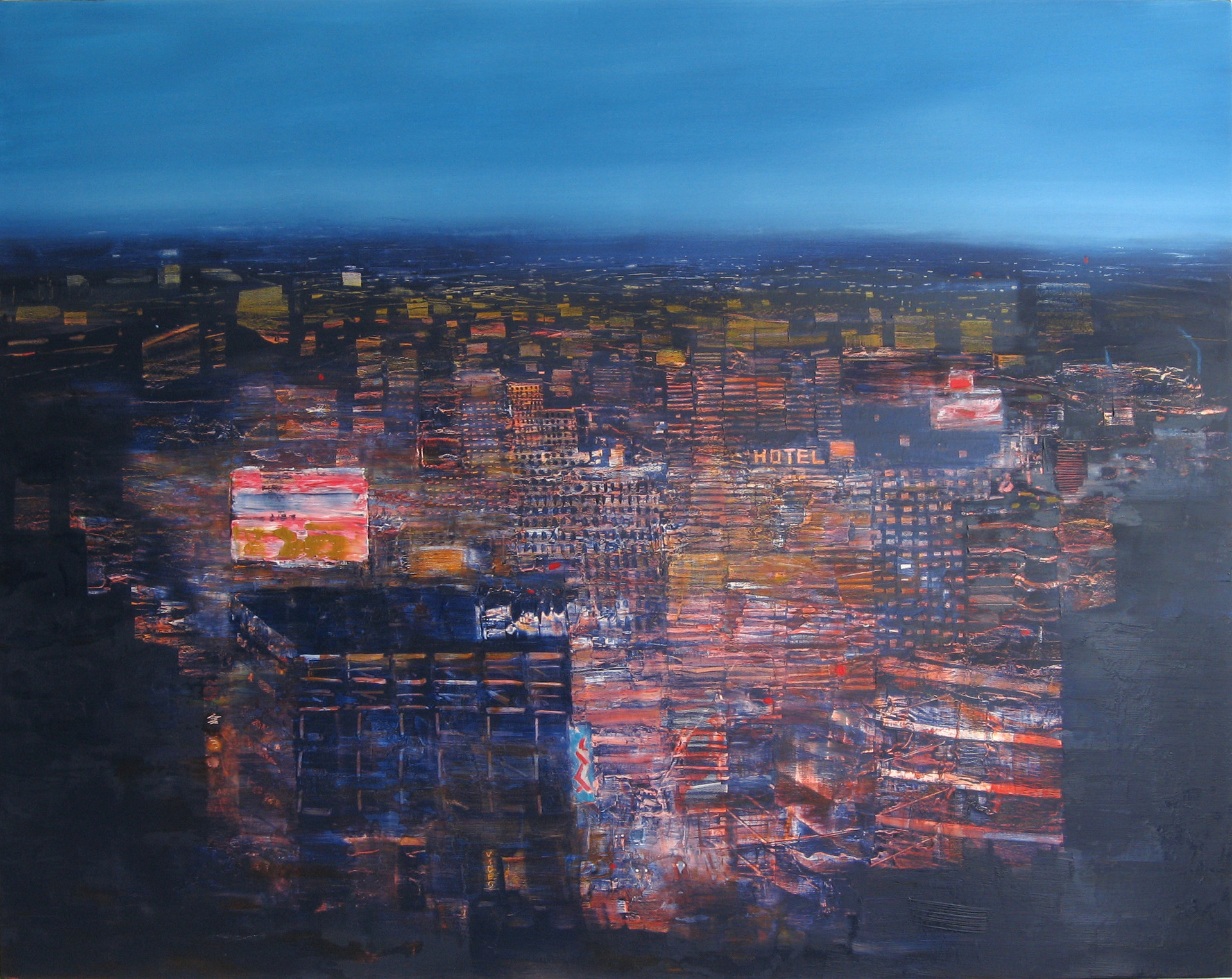 "JOSEPH SIDDIQI ""Sunrise"" oil on canvas 48 x 60 in. / 122 x 152 cm"
