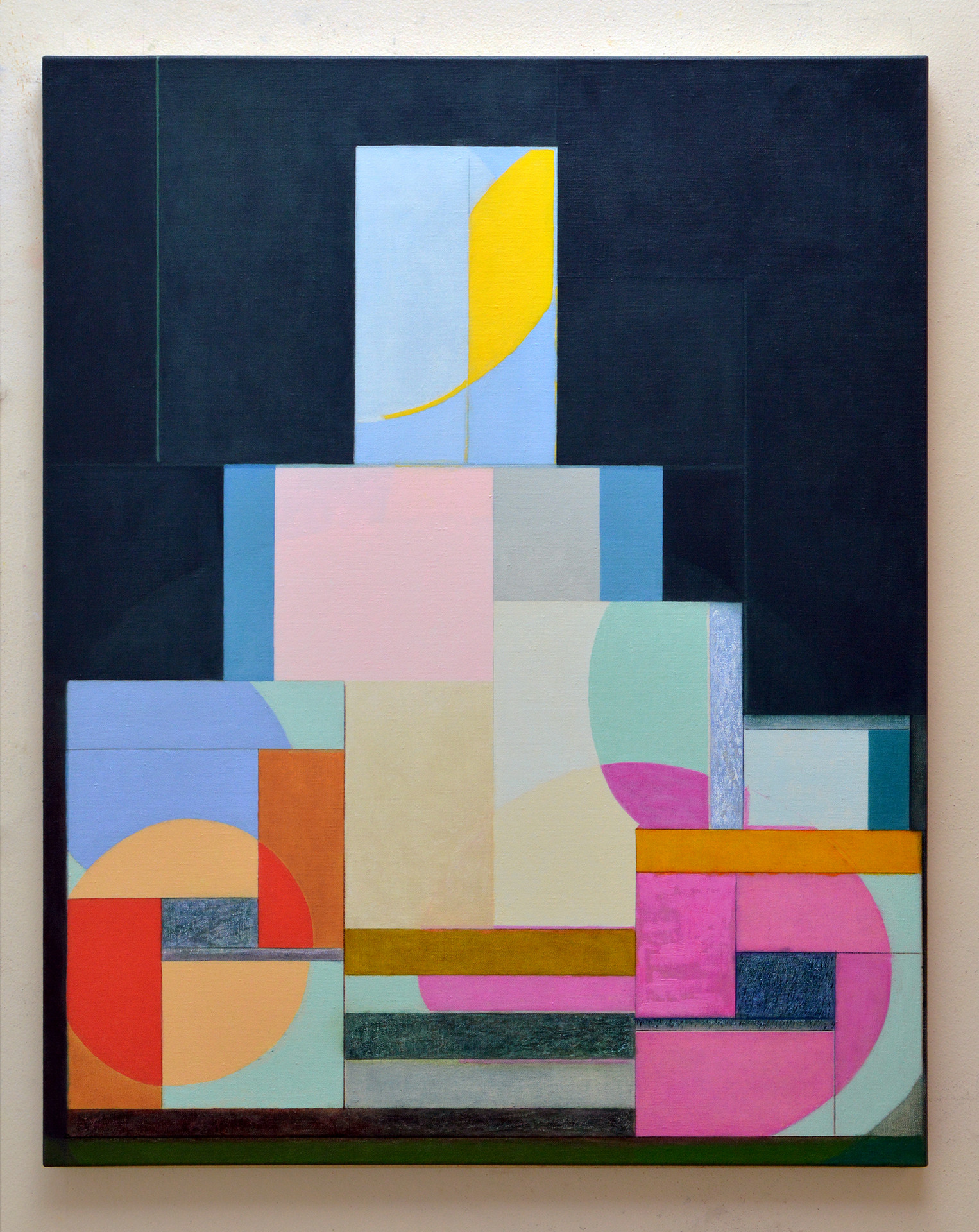 "JOSEPH SIDDIQI ""Formations""  oil on linen 40 x 32 in. / 102 x 81 cm"