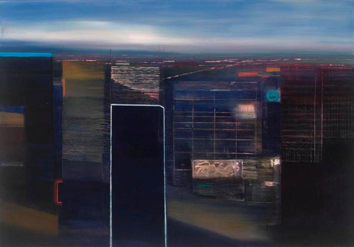 "JOSEPH SIDDIQI ""City View"" oil on linen 42 x 60 in. / 107 x 152 cm"