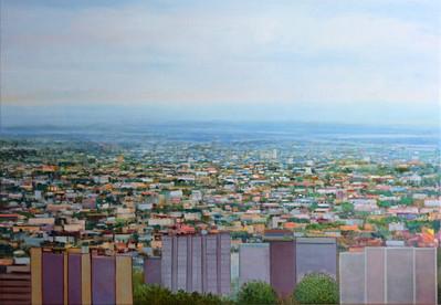 "JOSEPH SIDDIQI ""Ville-Marie"" 2013 oil on linen 42 x 60 in. / 107 x 152 cm"