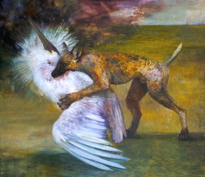"JOSEPH SIDDIQI ""Marauders V"" 2004 oil on canvas 84 x 96 in. / 213 x 244 cm"